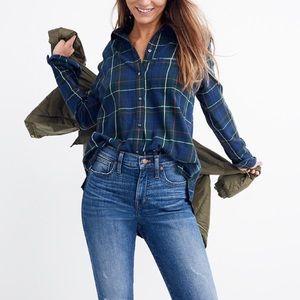 Madewell Ex-boyfriend Plaid flannel shirt 2XL